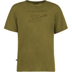 E9 Guitar t-shirt Heren olijf